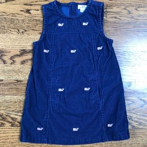 Vineyard Vines girls 4t navy corduroy dress